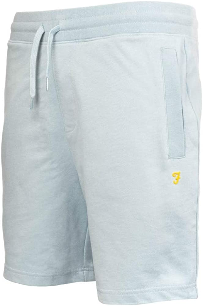 FARAH Hilton Dcord Mens Shorts Morning Sky XL