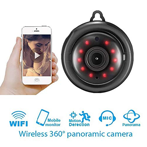 Mini Spy Camera WiFi Wireless Hidden Video Camera,Unine 1080P HD Home Security Cameras,Small IP Nanny Cam with Night Vision/Notifications Push/Remote Control for Car Home Office iOS Android