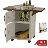 Patio Prep Station Mobile Rolling Portable Outdoor Grilling Cart Barbeque Serving Station Cabinet Bbq Resin Food Outside Lawn And Garden Backyard Multifunctional Storage Door And eBook By NAKSHOP