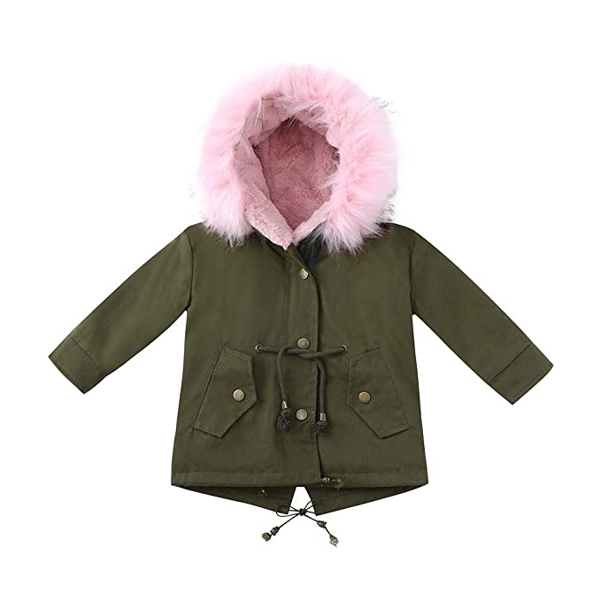 Amazon.com: Lurryly❤Girls Boys Kids Winter Warm Thick Coat Jacket Hoodies Hooded Outerwear Clothes 2-7T: Clothing