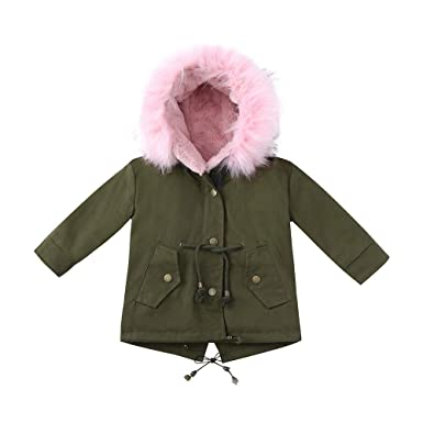 c8fd72573aa0 Amazon.com  Hatoys Baby Girls Boys Thick Hooded Jacket Warm Wear ...