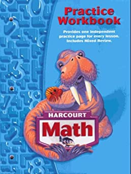 math worksheet : harcourt school publishers math practice workbook student edition  : Harcourt Math Worksheets Grade 5