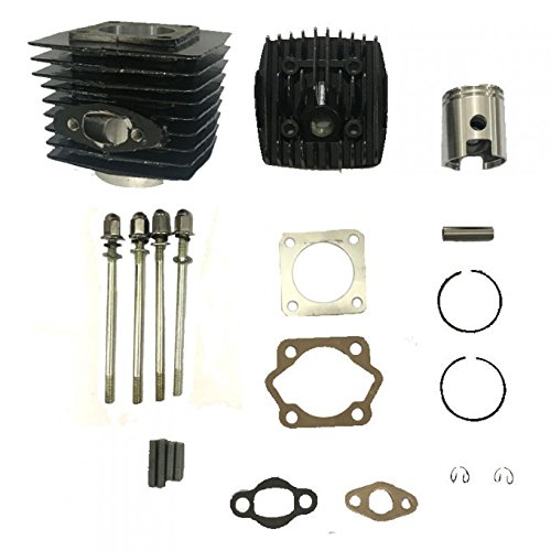 cc Total Cylinder Kits(with 40mm Intake Stud spacing) high Hole Piston for Long Connecting Rod-for Gas Motorized Bicycle 66cc/80cc ()