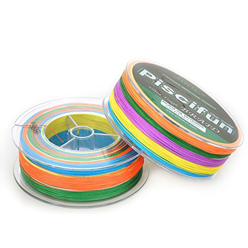 Piscifun Multicolor Braided Fishing Line 500m 547 Yards