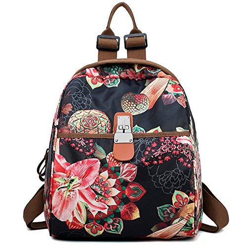 à imperméable Sac E à ont coloré sac à sac d'épaule l'eau le à d'Oxford besace à sac dos dos femmes décontracté Messenger sac main bandoulière modèle imprimé Les xWXApn0U1q