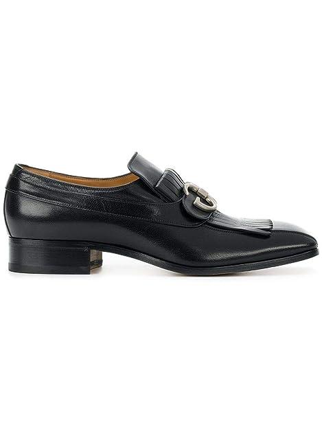 Gucci Hombre 489946D3V001000 Negro Cuero Mocasín: Amazon.es: Zapatos y complementos