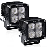 RUN-D 2X 40W CREE LED Driving Lights 3150lm 3'' Cube Pods for Jeep JK 4x4 Off Road ATV UTV Truck Work Lamp (Flood)