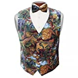 King of the Jungle Tuxedo Vest and Bow Tie Size XLarge