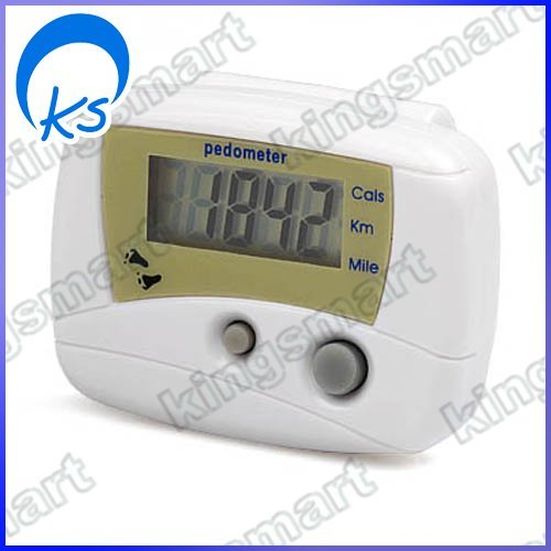 LCD Pedometer Step Counter Calorie Walking Distance