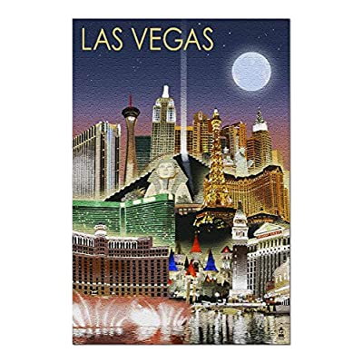 Las Vegas, Nevada - Las Vegas at Night (Premium 1000 Piece Jigsaw Puzzle for Adults, 20x30, Made in USA!): Toys & Games