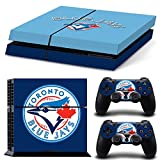 Toronto Blue Jays Sticker Decal Skin for PS4 Console + 2 Controllers by FAST DECALS