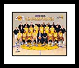 2010 Los Angeles Lakers NBA Framed 8x10 Photograph NBA Finals Champions Team Sit Down