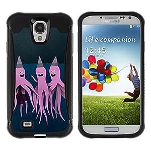 Paccase / Suave TPU GEL Caso Carcasa de Protección Funda para - Purple Pink Art Painting - Samsung Galaxy S4 I9500