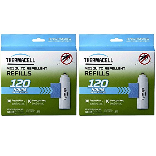 (Thermacell Mega Refill Packs (R-10): 60 Mats and 20 Butane Cartridges - 2-Pack)