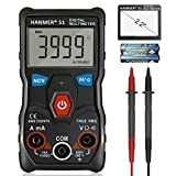 Hanmer Multimeter, Auto-Ranging Digital Multimeter, Electrical Tester with NCV,True RMS 4000 Counts AC/DC Voltmeter Ammeter Ohmmeter, Resistance, Live Line Digital Testers with LCD Backlight