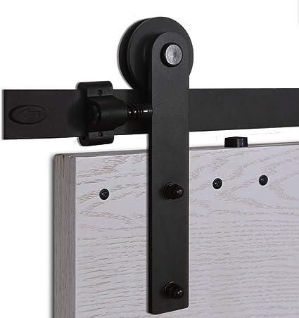 CCJH 6FT 183cm Scorrevole Binario ruote rulli hardware della Porta Kit Accessori per Singolo Porta Scorrevole in Stile Rustico Simple Shaped