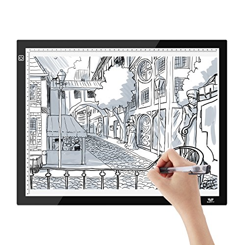 (A3 Light Box, SAVFY Ultra-Thin Portable USB Powered LED Artcraft Tracer Light Pad Copy Board for Artists,Drawing, Sketching, Animation)