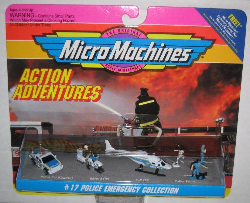 222 Bell Scale - Micro Machines #17 Police Emergency Collection