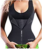 zip corset butt lifter - Nebility Waist Trainer Corset for Weight Loss Tummy Control Sport Workout (Black, XL)