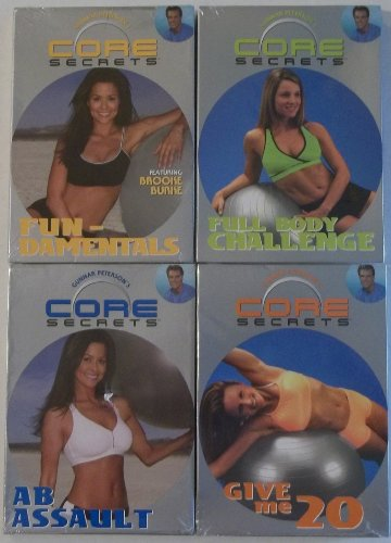 Core Secrets--4 DVD's--Ab Assault+ Fun-damentals+Give me 20+Full Body Challenge (Body Full Assault)