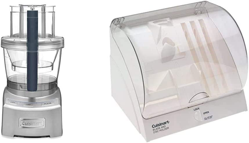 Cuisinart FP-12DCN Elite Collection 2.0 12-Cup Food Processor, Silver Die Cast & BDH-2 Blade and Disc Holder