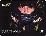 AUTOGRAPHED 2013 Denny Hamlin #11 FedEx Racing Team (In-Car Helmet) Gibbs Signed 9X11 NASCAR Hero Card with COA