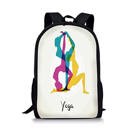Amazon.com  iPrint School Bags Yoga Decor 8959f775f6994
