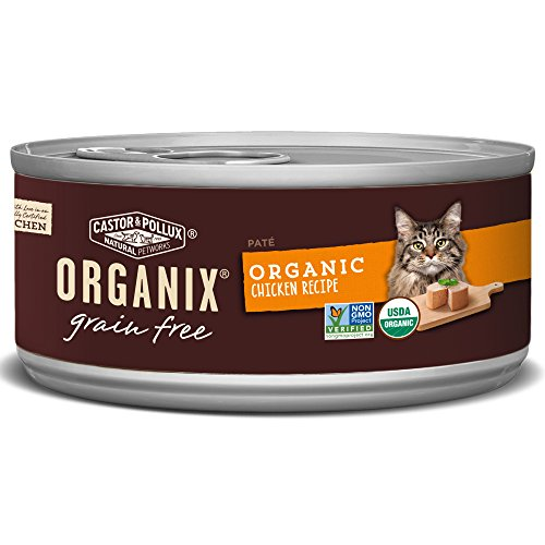 Organix Chicken Pate Recipe for Adult Cats, 5.5-Ounce Cans