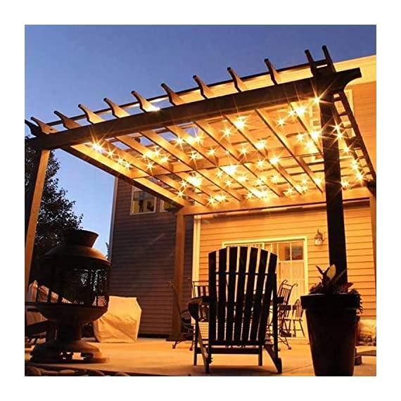 """Brightown Outdoor Patio String Lights-100Ft G40 Backyard Lights with 104 5W Edison Clear Bulbs(4 Spare), UL listed… - 100 feet long string with 100 clear G40 Bulbs, NOT connectable Light bulbs have candelabra (E12) socket base. 6"""" lead with male plug, 12"""" spacing between bulbs. Total Length 100 Feet. - patio, outdoor-lights, outdoor-decor - 51t%2B%2BOtlKsL. SS570  -"""