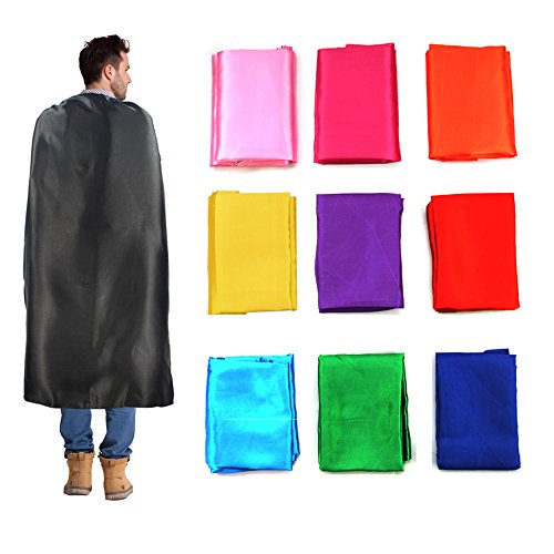 Starkma 10pc One Side Satin Adult Size Men&Women Superhero Cape Any Color for $<!--$38.99-->