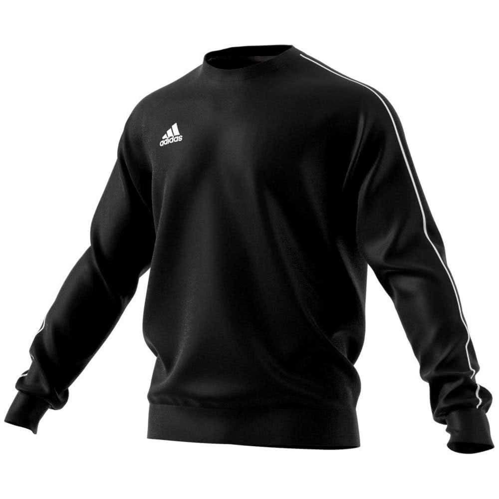 adidas Core 18 Sweat Top - Adult - Black/White - XS by adidas