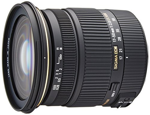 Sigma 17-50mm f/2.8 EX DC OS HSM FLD Large Aperture Standard Zoom Lens for Canon Digital DSLR Camera - International Version (No Warranty) by Sigma