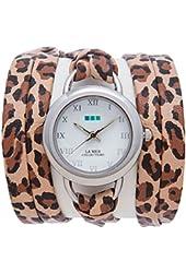 La Mer Collections Women's LMSATURN1551 Retro Leopard Saturn Wrap Watch