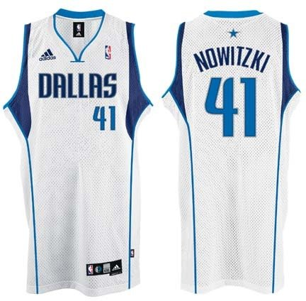 44608deff Image Unavailable. Image not available for. Color  adidas Dirk Nowitzki  Dallas Mavericks  41 Swingman NBA Basketball Jersey ...