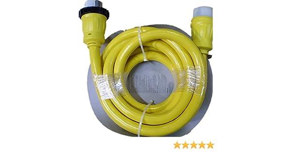 15 ft 8518 High Tide 125//250V 50 Amp Marine//Shore Power Cord