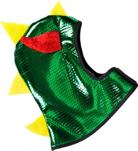Great Pretenders Reversible Knight Dragon Hood, Green/Silver (One (Spike Dragon Costume)