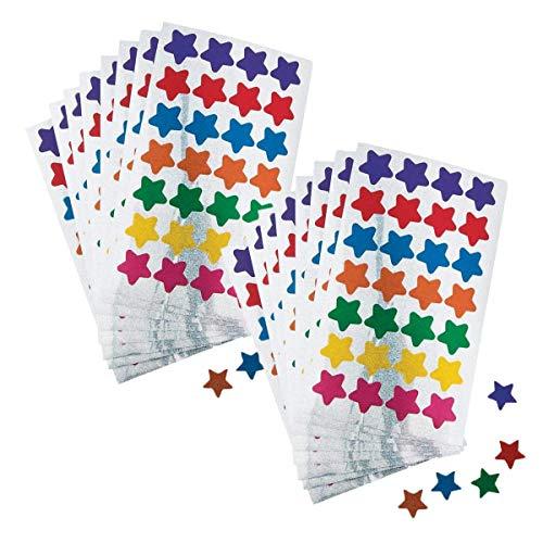 1400 Star - Fun Express Basic Star Stickers (1400 Star Stickers) 1/2