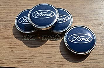 eMarkooz 4 x 54MM ALLOY WHEEL CENTRE CAPS Center Hub Caps Blue 54MM FITS to FORD wheels