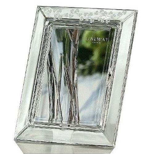 SHAMROCK Crystal frame by Galway for Belleek of Ireland - 5x7