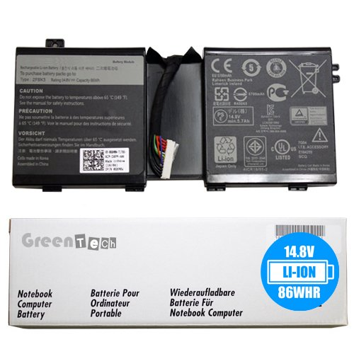 Bateria 2F8K3 Alienware 17 R1 Alienware 18 R1 14.8V 86Whr 8