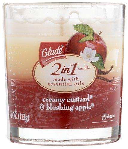 Glade Candle Creamy Custard & Blushing Apple
