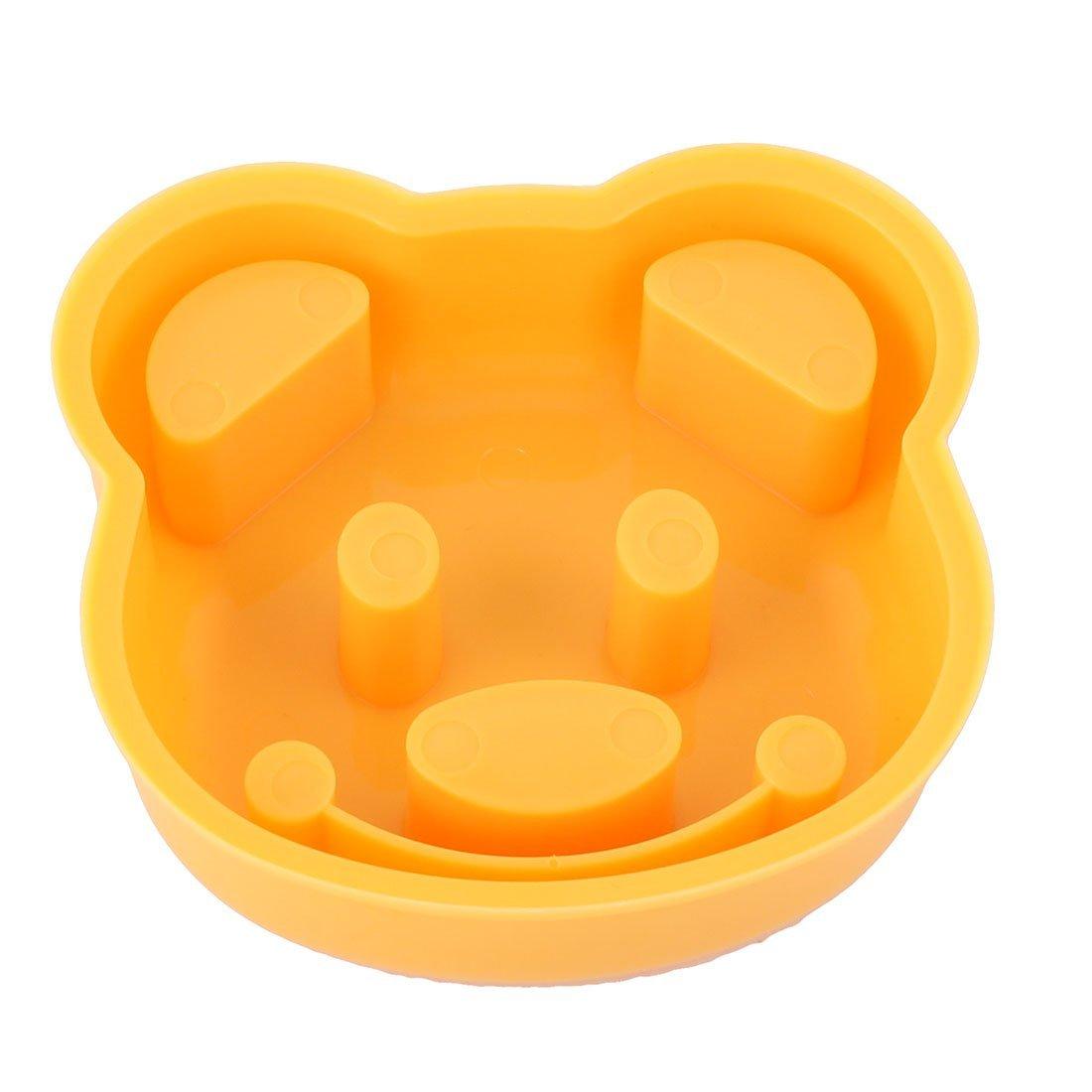 Amazon.com: eDealMax plástico la cocina del hogar del oso de cabeza en forma de sándwich de pan de molde DIY naranja Bola de arroz: Kitchen & Dining