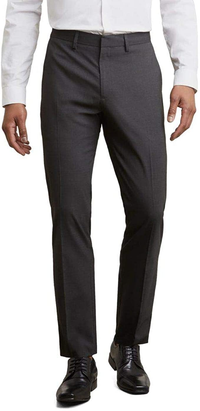 Kenneth Cole Reaction Glenn Plaid Slim Fit Stretch Pants KD00487