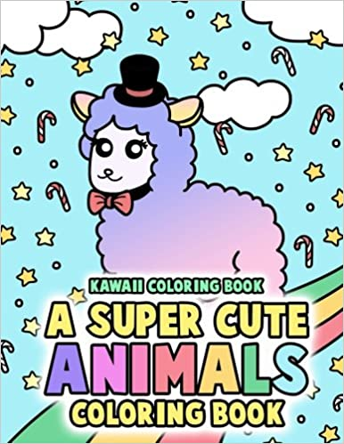 Kawaii Coloring Book A Super Cute Animals Coloring Book Includes