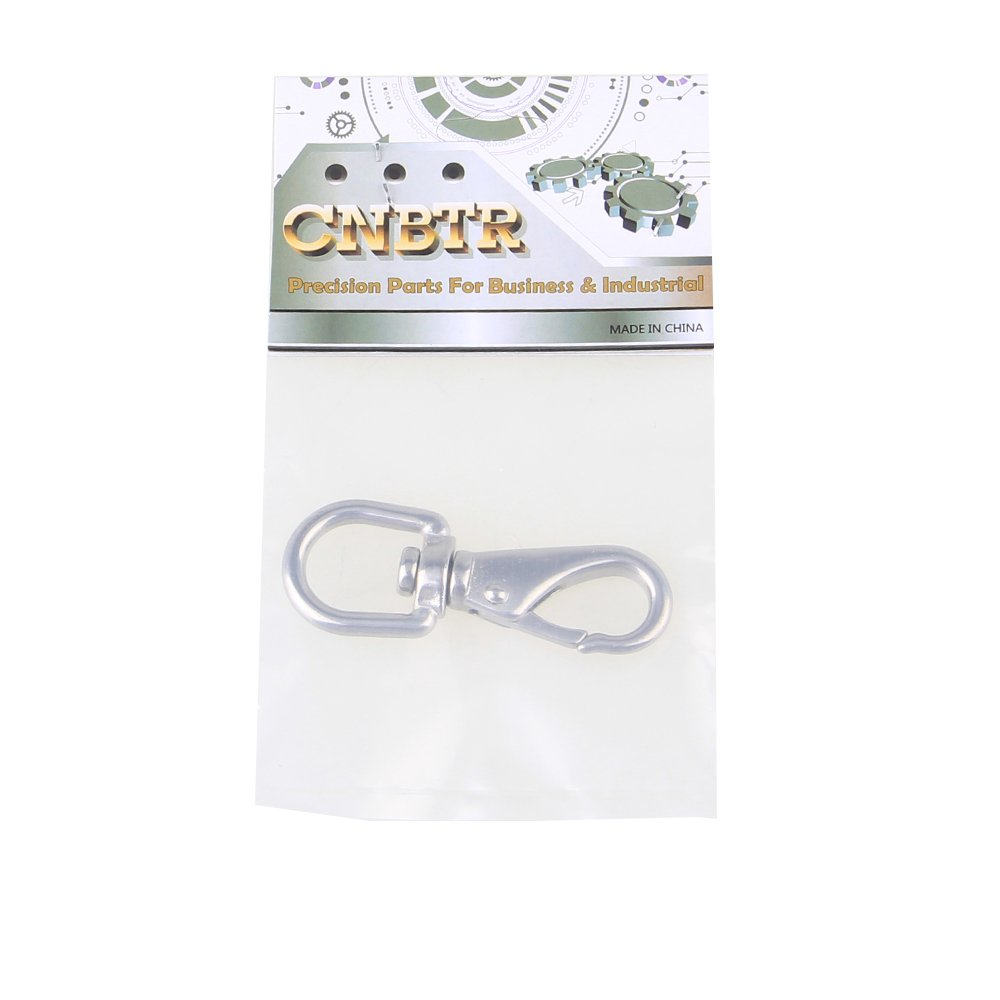CNBTR Silver 304 Stainless Steel Boat Marine Pet Chains Keychains Swivel Eye Spring Hardware Snap Hook 0# // M4