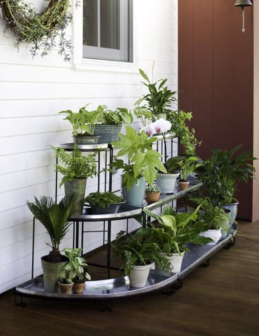 Plant Terrace 3-Piece Set, Green by Gardener's Supply Company