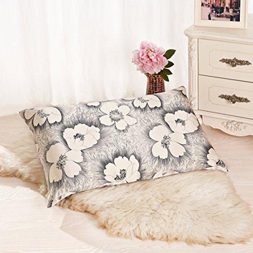ALASKA BEAR - Natural Silk Pillowcase, Hypoallergenic, 19 momme, 600 thread count 100 percent Mulberry Silk, Queen Size with hidden zipper, Custom Printing Pillow Case for Home Décor(1, Dandelion)