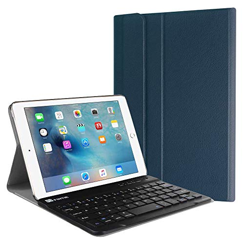 Fintie iPad Mini 4 Keyboard Case - Blade X1 Slim Shell Lightweight Cover w/Magnetically Detachable Wireless Bluetooth Keyboard for Apple iPad Mini 4 (2015 Release), Navy Blue (Ipad Mini 2 Ipad Mini 4 Comparison)