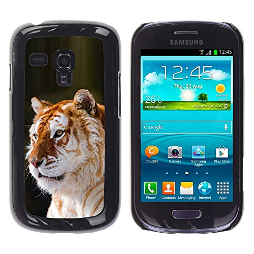All Phone Most Case / Hard PC Metal piece Shell Slim Cover Protective Case for Samsung Galaxy S3 MINI NOT REGULAR! I8190 I8190N tiger orange fur big cat Africa tropical