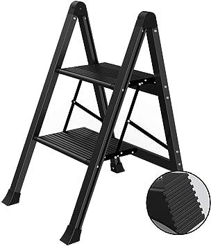 De Dos Pasos Espiga De Escalera Inicio Taburete Silla De Cubierta Escalera De Aluminio Multifuncional Escala De Plegamiento (Color : Black, Size : 42 * 53.5 * 69.5cm): Amazon.es: Bricolaje y herramientas